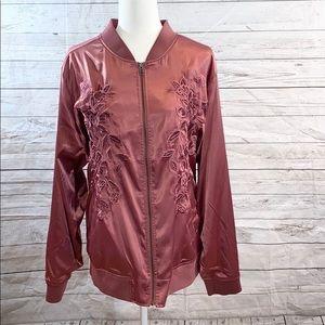 Torrid Rose Bomber Jacket